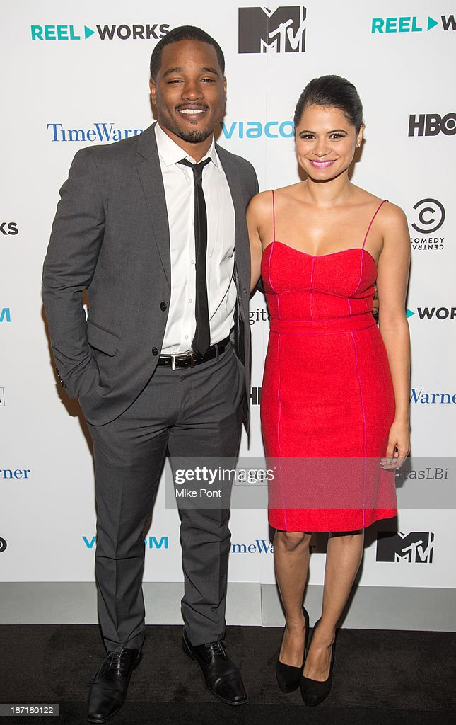Writer/Director Ryan Coogler and Actress Melonie Diaz attend the REEL WORKS 2013 benefit gala at The Edison Ballroom on November 6, 2013 in New York City.
