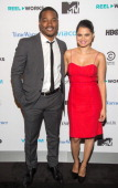 Writer/Director Ryan Coogler and Actress Melonie Diaz attend the REEL WORKS 2013 benefit gala at The Edison Ballroom on November 6 2013 in New York...