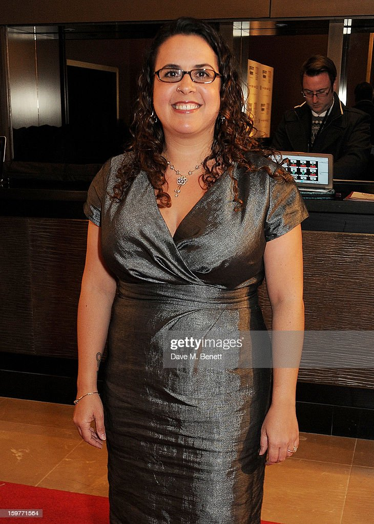 Writer/Director Sally El Hosaini arrives at the London Critics Circle Film Awards at the May Fair Hotel on January 20, 2013 in London, England.