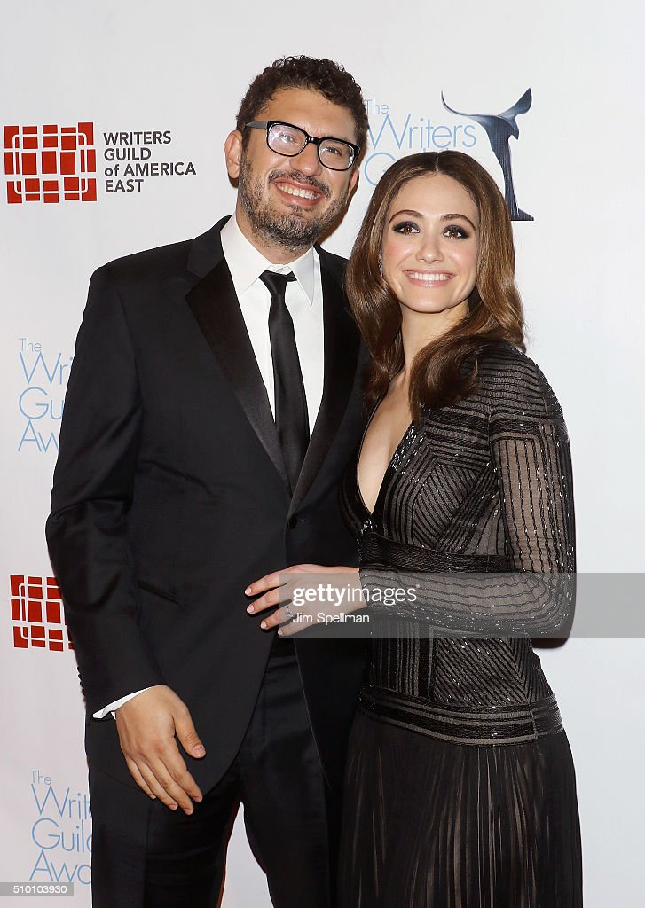 Writer/director Sam Esmail and actress Emmy Rossum attend the 2016 Writers Guild Awards New York Ceremony at The Edison Ballroom on February 13 2016...