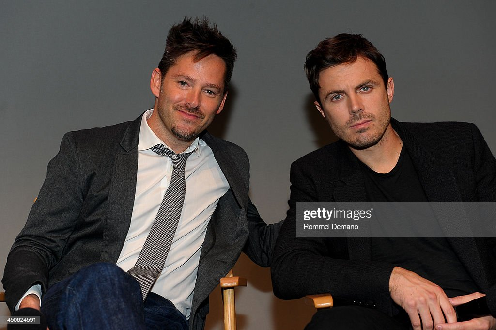 Writer/Director Scott Cooper and Actor Casey Affleck attend Meet the Filmmakers 'Out Of the Furnace' at the Apple Store Soho on November 19, 2013 in New York City.
