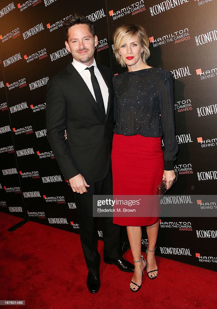 Writer/director Scott Cooper (L) and his guest attend the Seventh Annual Hamilton Behind the Camera Awards at The Wilshire Ebell Theatre on November 10, 2013 in Los Angeles, California.