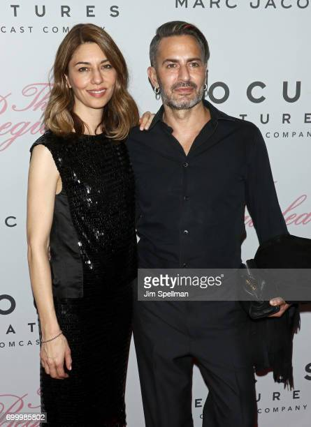 Writer/director Sofia Coppola and fashion designer Marc acobs attends 'The Beguiled' New York premiere at The Metrograph on June 22 2017 in New York...