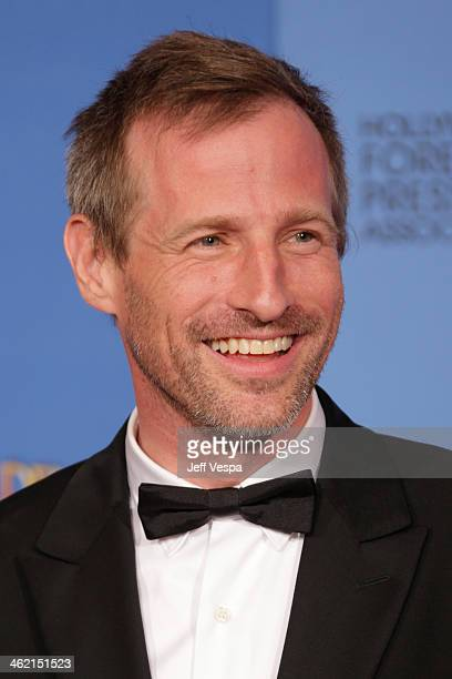 Writerdirector Spike Jonze poses in the press room during the 71st Annual Golden Globe Awards held at The Beverly Hilton Hotel on January 12 2014 in...