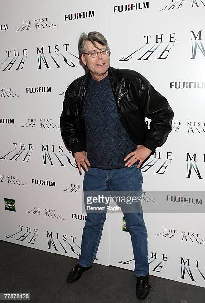 Writer/Director Stephen King attending the premiere of 'The Mist' at the Ziegfeld Theater November 12 New York New York
