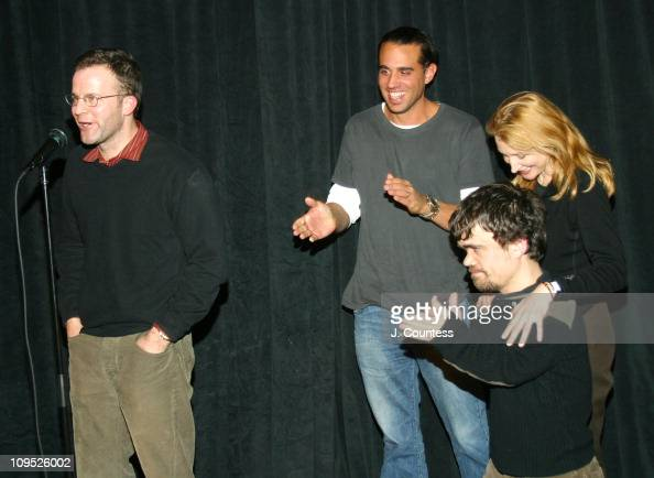 Writer/director Thomas McCarthy Bobby Cannavale Peter Dinklage and Patricia Clarkson