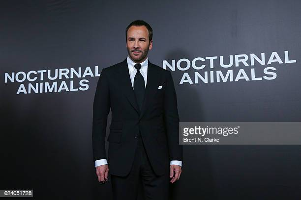 Writer/director Tom Ford attends the 'Nocturnal Animals' New York premiere held at The Paris Theatre on November 17 2016 in New York City
