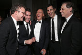 Writer/Director Tom McCarthy Brian d'Arcy James Michael Keaton Writer Josh Singer and Open Road's Tom Ortenberg attend the SPOTLIGHT Oscar AfterParty...