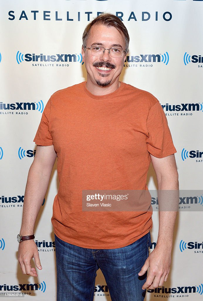 Writer/director <a gi-track='captionPersonalityLinkClicked' href=/galleries/search?phrase=Vince+Gilligan&family=editorial&specificpeople=4360133 ng-click='$event.stopPropagation()'>Vince Gilligan</a>, a creator of TV series 'Breaking Bad' visits at SiriusXM Studios on July 30, 2013 in New York City.