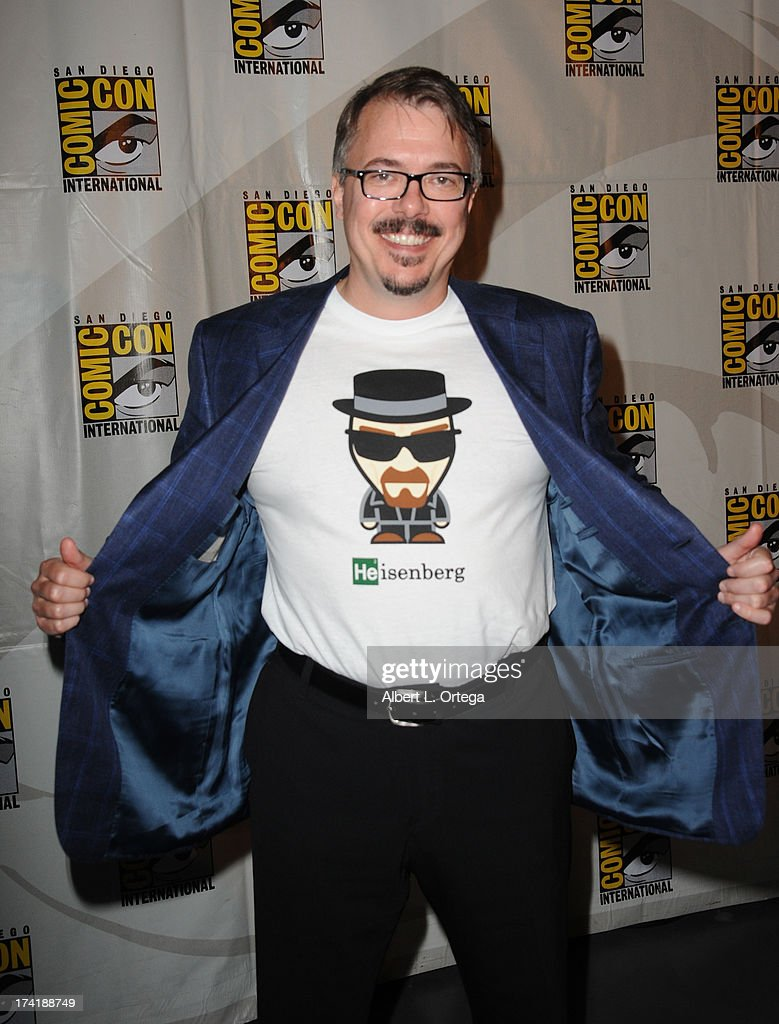 Writer/director Vince Gilligan at the 'Breaking Bad' panel during Comic-Con International 2013 at San Diego Convention Center on July 21, 2013 in San Diego, California.
