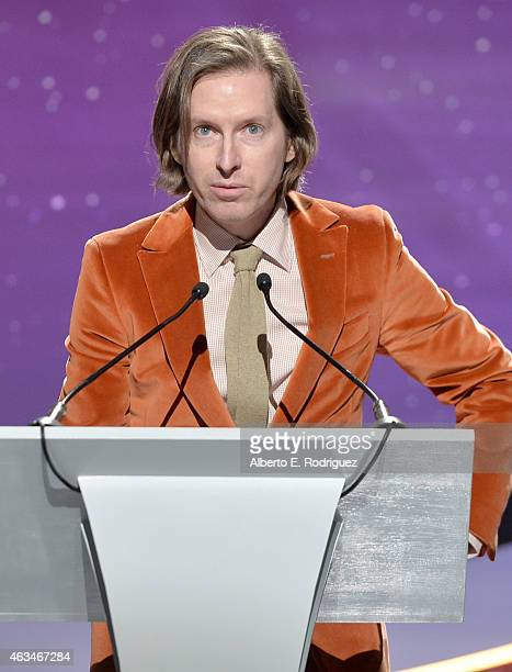 Writerdirector Wes Anderson accepts the Best Original Screenplay award for 'The Grand Budapest Hotel' onstage at the 2015 Writers Guild Awards LA...