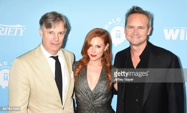 Writerdirector Whit Stillman Lila Feinberg and Head of Amazoncom's media development division Roy Price arrive at the Variety And Women In Film's...