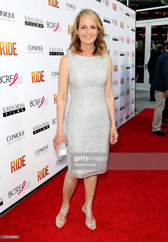 Writer/Director/Actor Helen Hunt attends the Los Angeles premiere of 'Ride' at ArcLight Cinemas on April 28 2015 in Hollywood California