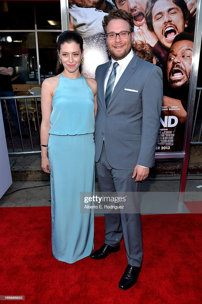 Writer/director/actor <a gi-track='captionPersonalityLinkClicked' href=/galleries/search?phrase=Seth+Rogen&family=editorial&specificpeople=3733304 ng-click='$event.stopPropagation()'>Seth Rogen</a> (R) and Lauren Miller attend Columbia Pictures' 'This Is The End' premiere at Regency Village Theatre on June 3, 2013 in Westwood, California.
