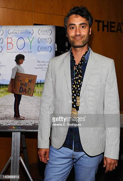 Writer/director/actor Taika Waititi attends a special advance screening of 'Boy' at DGA Theater on March 8 2012 in Los Angeles California