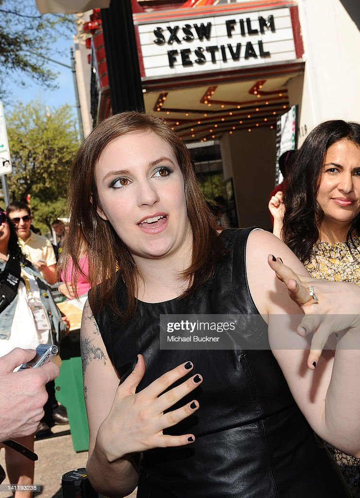 Writer/Director/Actress <a gi-track='captionPersonalityLinkClicked' href=/galleries/search?phrase=Lena+Dunham&family=editorial&specificpeople=5836535 ng-click='$event.stopPropagation()'>Lena Dunham</a> arrives to the screening of 'Girls' during the 2012 SXSW Music, Film + Interactive Festival at Paramount Theatre on March 12, 2012 in Austin, Texas.