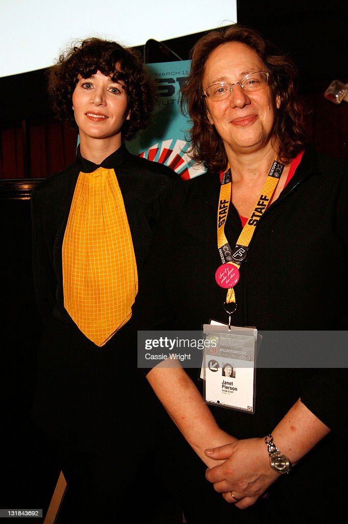Writer/director/actress Miranda July and Producer of SXSW Janet Pierson attend the 2011 SXSW Music Film Interactive Festival 'The Future' Premiere at...