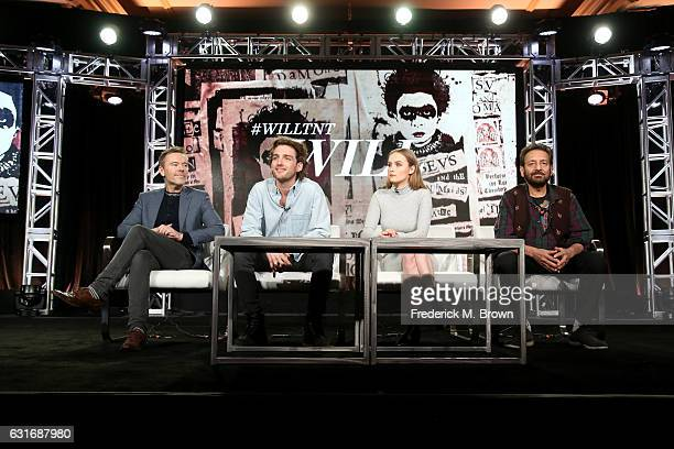 Writer/director/executive producer Craig Pearce actors Laurie Davidson and Olivia DeJonge and executive producer/director Shekhar Kapur of the series...