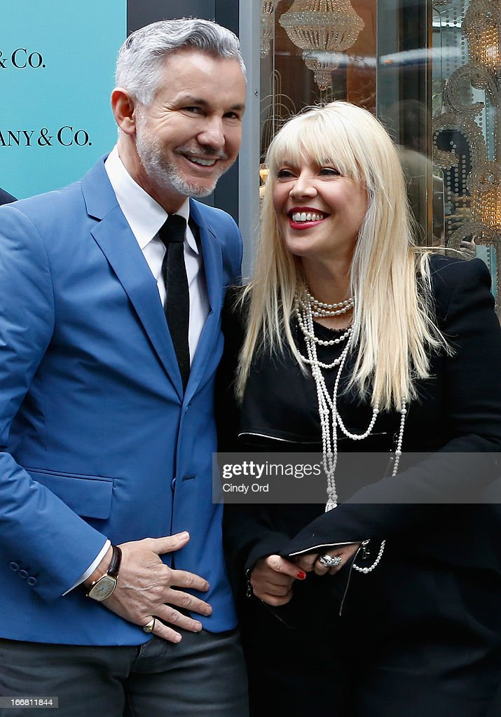 writer/director/producer Baz Luhrmann and two-time Oscar-winning costume and production designer, Catherine Martin attend the Great Gatsby Window Unveiling at Tiffany & Co. on April 17, 2013 in New York City.