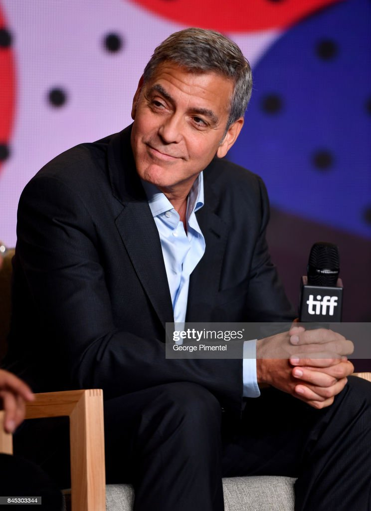 Writer/director/producer George Clooney speaks onstage at the 'Suburbicon' press conference during the 2017 Toronto International Film Festival at TIFF Bell Lightbox on September 10, 2017 in Toronto, Canada.