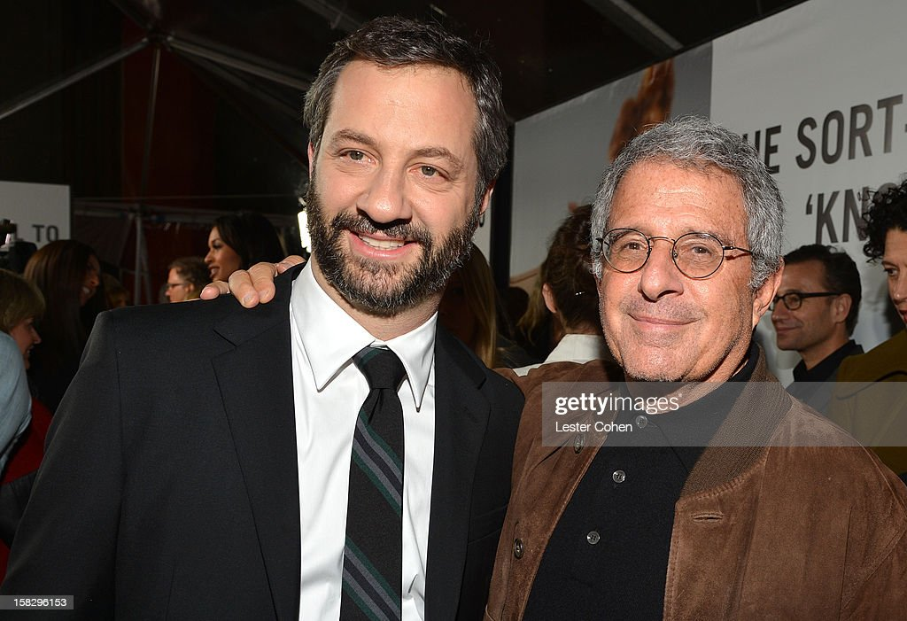 Writer/director/producer Judd Apatow and Universal Studios President and COO Ron Meyer attend 'This Is 40' - Los Angeles Premiere - Red Carpet at Grauman's Chinese Theatre on December 12, 2012 in Hollywood, California.
