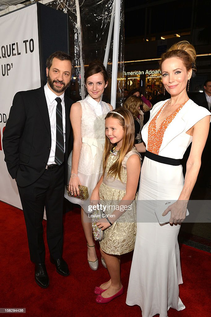 Writer/director/producer Judd Apatow, Maude Apatow, Iris Apatow and and actress Leslie Mann attend 'This Is 40' - Los Angeles Premiere - Red Carpet at Grauman's Chinese Theatre on December 12, 2012 in Hollywood, California.