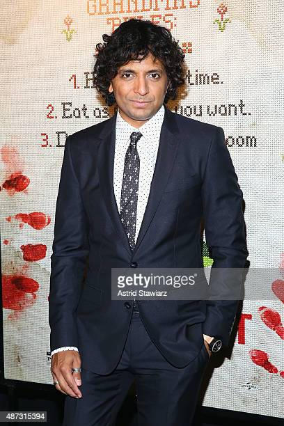 Writer/director/producer M Night Shyamalan attends the New York premiere of 'The Visit' at Regal Cinemas Union Square on September 8 2015 in New York...