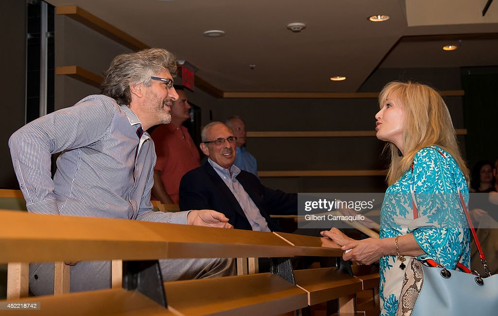Writer/director/producer Michael Rossato-Bennett and Six-time Emmy award winning television Host, Writer, and Producer Nancy Glass attend the 'Alive Inside' screening at Kimmel Center for the Performing Arts on July 15, 2014 in Philadelphia, Pennsylvania.