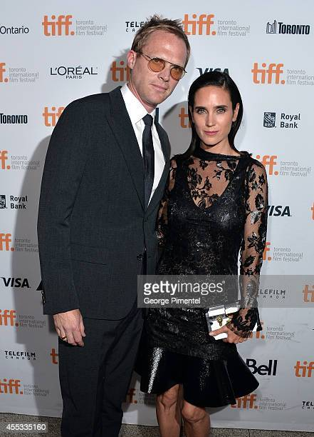 Writer/Director/Producer Paul Bettany and actress Jennifer Connelly attend the 'Shelter' premiere during the 2014 Toronto International Film Festival...