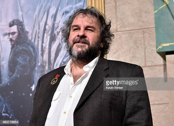 Writer/director/producer Peter Jackson attends the premiere of New Line Cinema MGM Pictures and Warner Bros Pictures' 'The Hobbit The Battle of the...