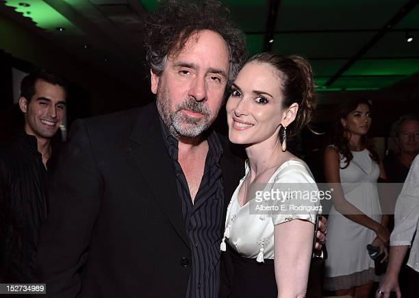 Writer/Director/Producer Tim Burton and actress Winona Ryder attend Disney's 'Frankenweenie' premiere after party at the The Annex at Hollywood...