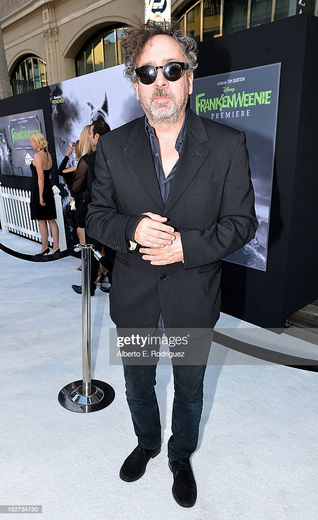 Writer/Director/Producer <a gi-track='captionPersonalityLinkClicked' href=/galleries/search?phrase=Tim+Burton&family=editorial&specificpeople=206342 ng-click='$event.stopPropagation()'>Tim Burton</a> arrives at Disney's 'Frankenweenie' premiere at the El Capitan Theatre on September 24, 2012 in Hollywood, California.