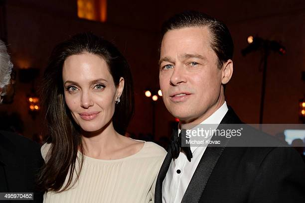 Writerdirectorproduceractress Angelina Jolie Pitt and actorproducer Brad Pitt attend the after party for the opening night gala premiere of Universal...