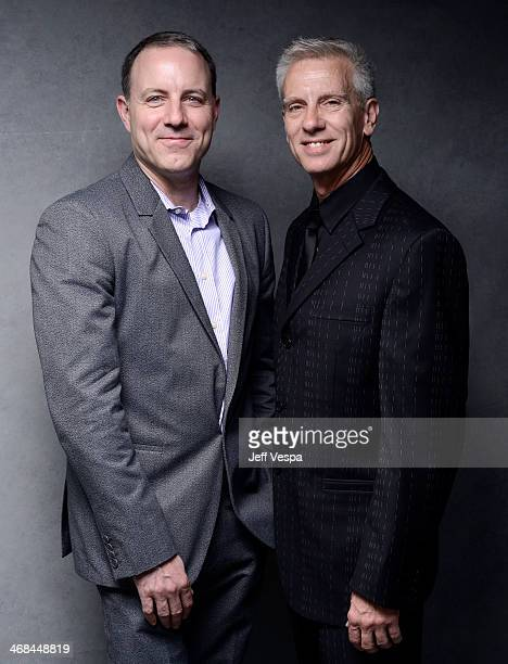 Writer/Directors Kirk De Micco and Chris Sanders pose for a portrait at the 86th Academy Awards nominee luncheon at The Beverly Hilton Hotel on...