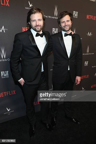 Writer/directors Matt Duffer and Ross Duffer at The Weinstein Company and Netflix Golden Globes Party presented with FIJI Water at The Beverly Hilton...