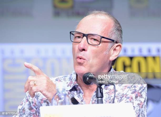 Writer/executive producer Dave Gibbons speaks onstage at the 20th Century FOX panel during ComicCon International 2017 at San Diego Convention Center...
