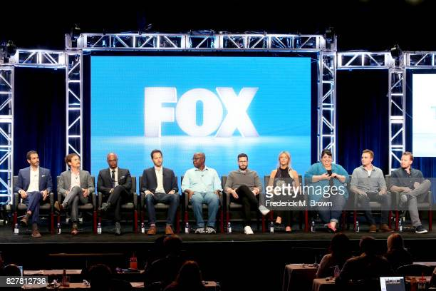 Writer/Executive Producer Matthew Miller actors Clayne Crawford and Damon Wayans of 'Lethal Weapon' CoCreator/Executive Producer Dan Goor and actors...