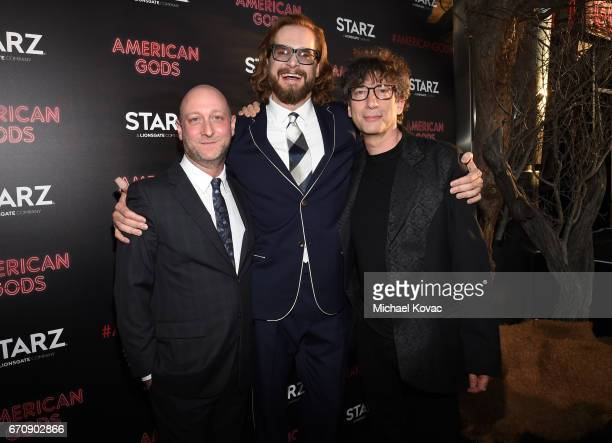 Writer/executive producer Michael Green Writer/executive producer Bryan Fuller and writer Neil Gaiman attend the 'American Gods' premiere at ArcLight...