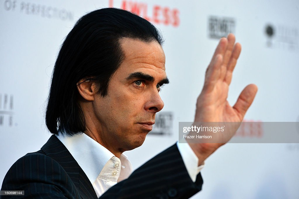 Writer/Musician Nick Cave arrives at the Premiere of the Weinstein Company's 'Lawless' at ArcLight Cinemas on August 22, 2012 in Hollywood, California.
