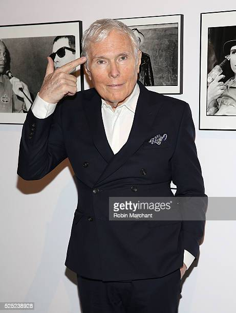 Writer/Photographer Glenn O'Brien attends 2016 Free Arts NYC Art Auction Benefit on April 27 2016 in New York City