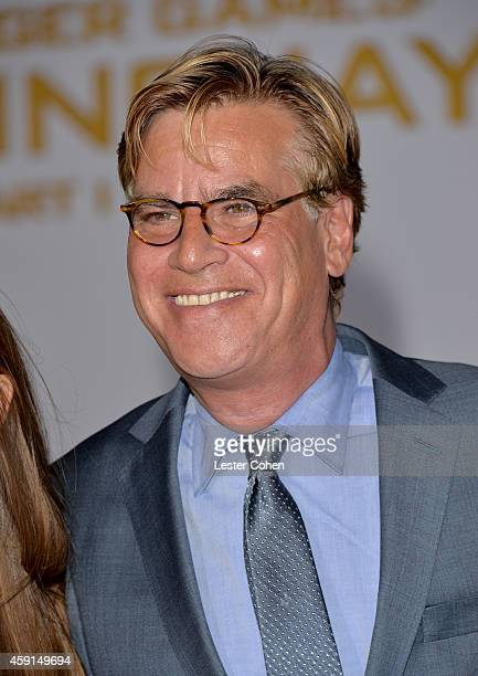 Writer/producer Aaron Sorkin attends 'The Hunger Games Mockingjay Part 1' Los Angeles Premiere at Nokia Theatre LA Live on November 17 2014 in Los...