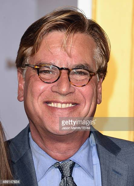 Writer/Producer Aaron Sorkin attends the Premiere of Lionsgate's 'The Hunger Games Mockingjay Part 1' at Nokia Theatre LA Live on November 17 2014 in...