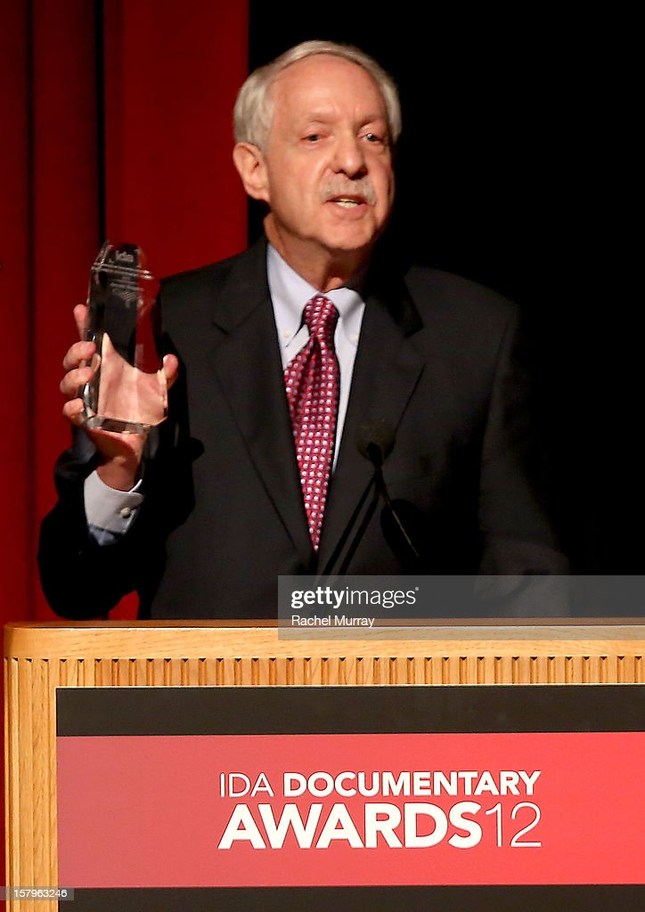 Writer/Producer Arnold Shapiro accepts the Career Achievement Award onstage at the International Documentary Association's 2012 IDA Documentary Awards at DGA Theater on December 7, 2012 in Los Angeles, California.