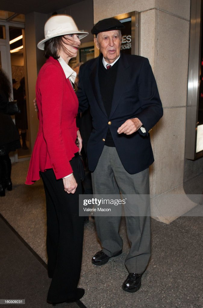 Writer/Producer Carl Reiner arrives at 'Enter Laughing, The Musical' Carl Reiner's One-Night Only Tribute Celebrating His 75th Anniversary In Show Business on January 28, 2013 in Los Angeles, California.