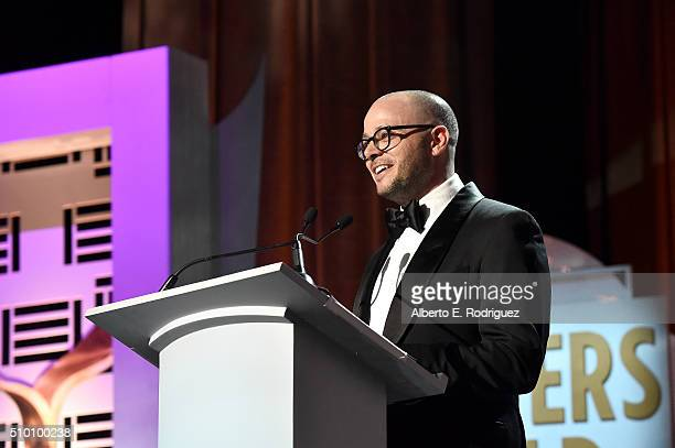 Writer/producer Damon Lindelof speaks onstage during the 2016 Writers Guild Awards at the Hyatt Regency Century Plaza on February 13 2016 in Los...