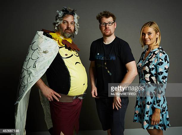 Writer/producer Dan Harmon actor Justin Roiland and actress Spencer Grammer pose for a portrait at the Getty Images Portrait Studio powered by...