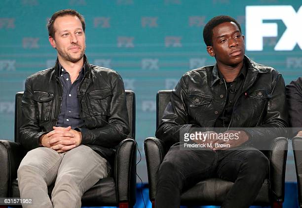 Writer/producer Dave Andron and actor Damson Idris of the television show 'Snowfall' speak onstage during the FX portion of the 2017 Winter...