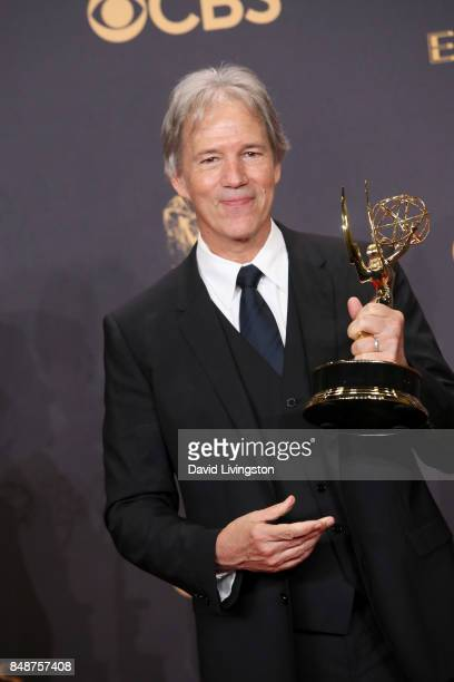 Writerproducer David E Kelley winner of Outstanding Limited Series or Movie for 'Big Little Lies' poses in the press room during the 69th Annual...