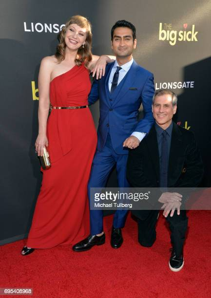 Writer/Producer Emily V Gordon Actor/Producer Kumail Nanjiani and Producer Barry Mendel attend the premiere of Amazon Studios and Lionsgate's 'The...