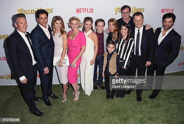 Writer/producer Jeff Franklin and actors John Stamos Lori Loughlin Jodie Sweetin Andrea Barber Michael Campion Candace Cameron Bure Elias Harger Soni...